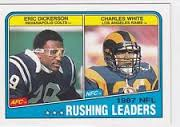 The card that inspired the post - the great Eric Dickerson and the forgotten Charles White.